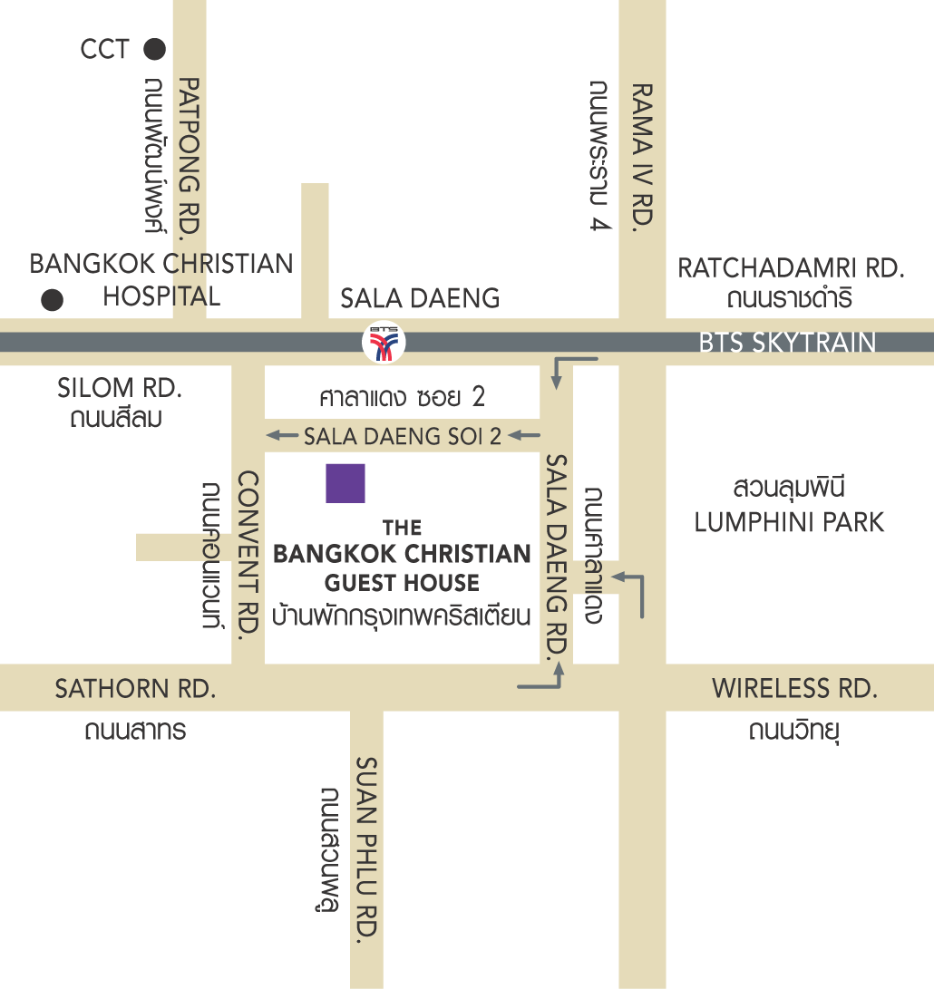Bangkok Christian map